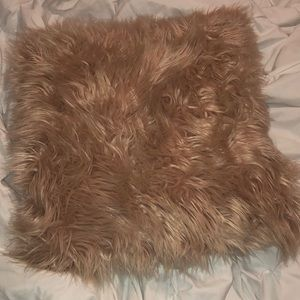 Chic  furry pink pillow